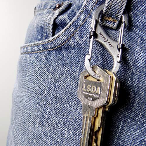 Nite Ize LSB2-11-R3 S-Biner Slide Lock Carabiner, Stainless, 2, Size #2