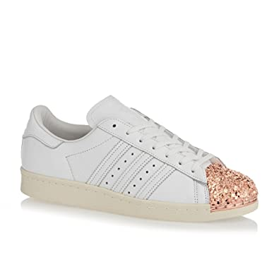 adidas Womens Originals Womens Superstar 80s Metal Toe Trainers in White -  UK 4 c4d55058eb