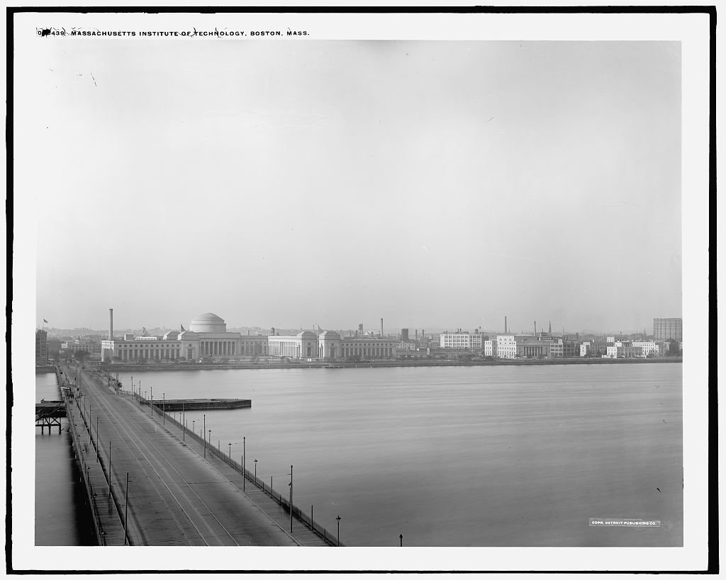Vintography 8 x 10 Reprinted Old Photo Massachusetts Institute Technology Boston Mass. 1910 Detriot Publishing co. 09a