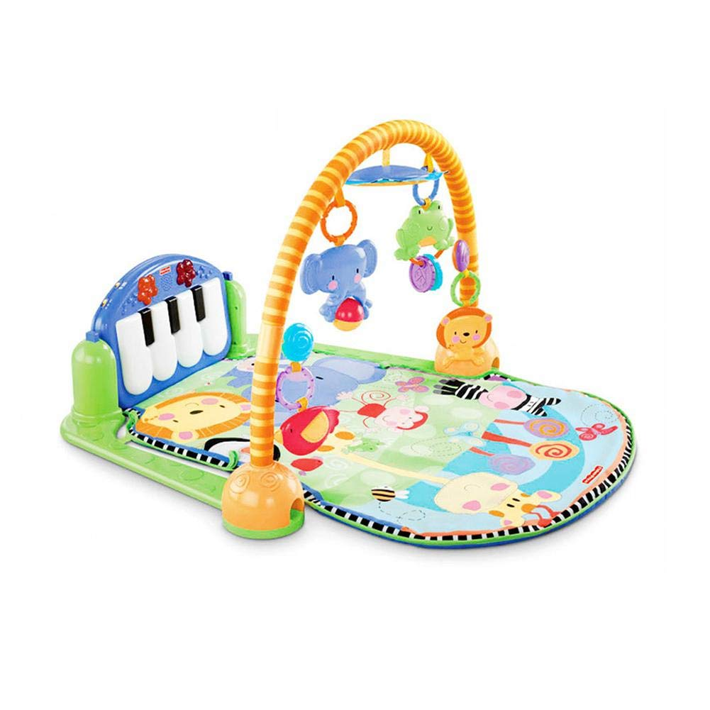 Baby Play Piano Gym Baby Fitness Pedals Baby Piano Play Mat Fitness Equipment Musical 3 in 1 Baby Lullaby Kid Playmat for 0-36 Month Boys and Girls