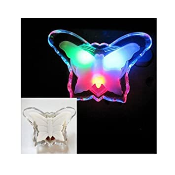 Amazon.com: discoGoods Colorful Butterfly Bedside LED Night Light ...