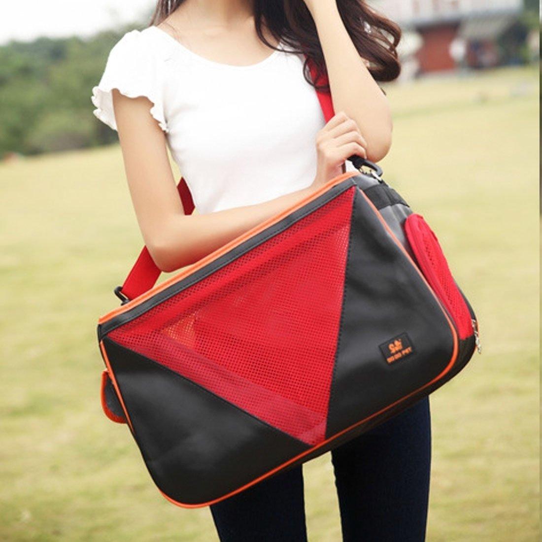 SRY- Prodotti per animali per il gatto   cane e altri animali domestici grandi, DODOPET MG-866 borsa portatile borsa tracolla, dimensione  50  30  19cm Carino e pratico ( Colore   rosso )