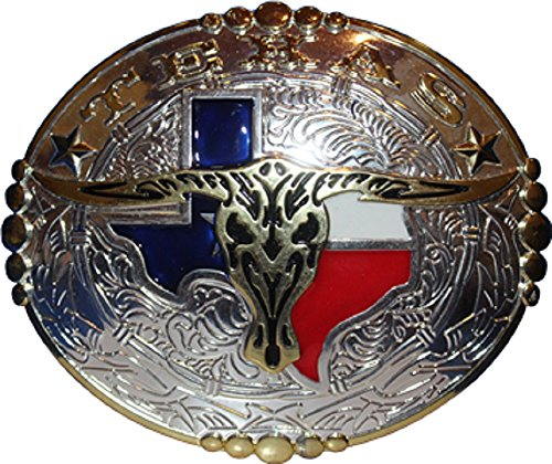 Lone Star Gold And Silver Texas Texans Horns Belt Buckle