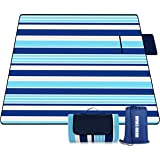 "Mumu Sugar Outdoor Picnic Blanket, 3-Layer Extra Large (80""x80"") Waterproof Foldable Picnic Mat - Beach Blanket Sand…"