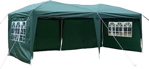 Tangkula 10 X20 EZ POP UP Tent Gazebo Wedding Party Folding Canopy Carry Bag Cross-Bar