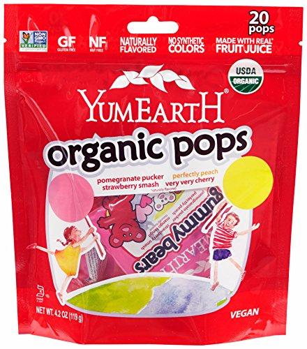 YumEarth Organic Lollipops, 4.2 Ounce ( Packaging May Vary ) (Baby Lollipops)