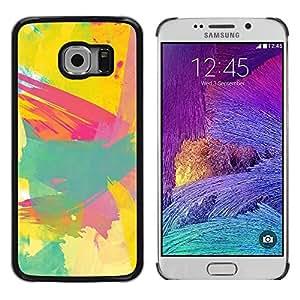 Caucho caso de Shell duro de la cubierta de accesorios de protección BY RAYDREAMMM - Samsung Galaxy S6 EDGE SM-G925 - Painting Paint Brush Artist Abstract
