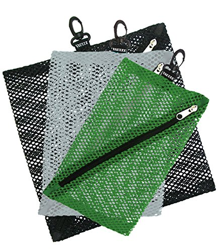 Vaultz Mesh Outdoor Storage Bags, 3 Pack, Assorted Sizes and Colors (VZ03501)