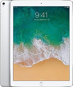 Apple iPad Pro (2017) 12.9in 64GB Wi-Fi Tablet, Silver (Renewed)