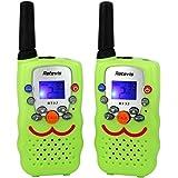 Retevis RT 32 Niños Walkie Talkies UHF 446MHz 0.5W CTCSS / DCS VOX Pantalla LCD 8 Canales (verde claro, 1 par)