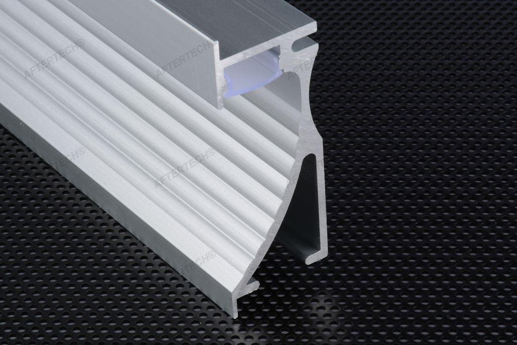 Aftertech® 7023 PROFIL ALUMINIUM MIT REIFLETTOUCH 1 M FÜR STRISCE STRIP LED + COVER Cover Weiß