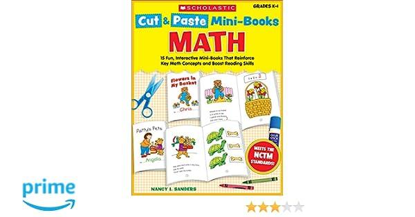 Amazon com: Cut & Paste Mini-Books: Math: 15 Fun