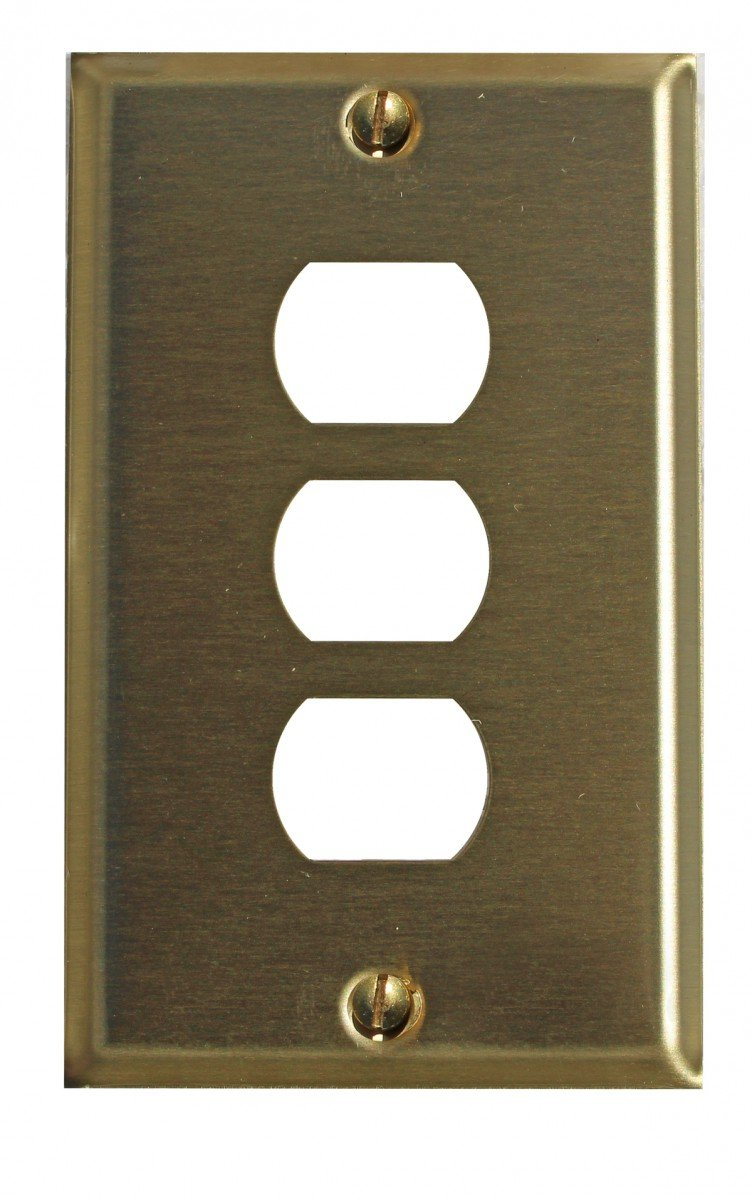 Switchplates Brushed Brass 3 Interchangeable/Despard Switch Plate