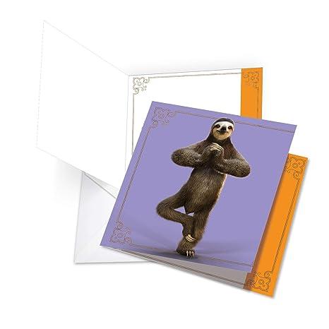 Amazon.com: Sloth Yoga Thank You - Funny All Occasion Thank ...
