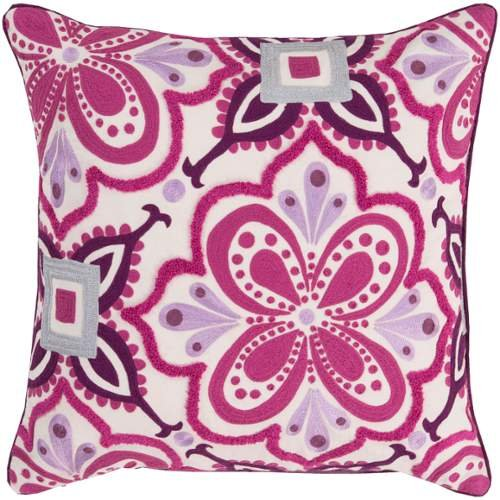 Surya Kate Spain KS010-2020P Synthetic Fill Pillow, 20 by 20-Inch, Magenta by Surya