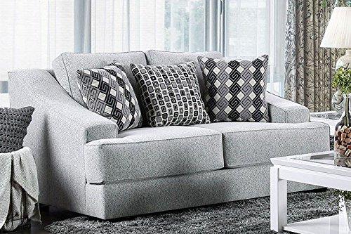 Price comparison product image Furniture of America SM2251-SF Lesath Sofa,  Light Gray