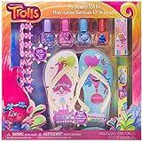 UPD Townleygirl DreamWorks Trolls My Beauty Spa Set Polish, Buffer, File, Sandals & Toe Separators, 10Piece Set