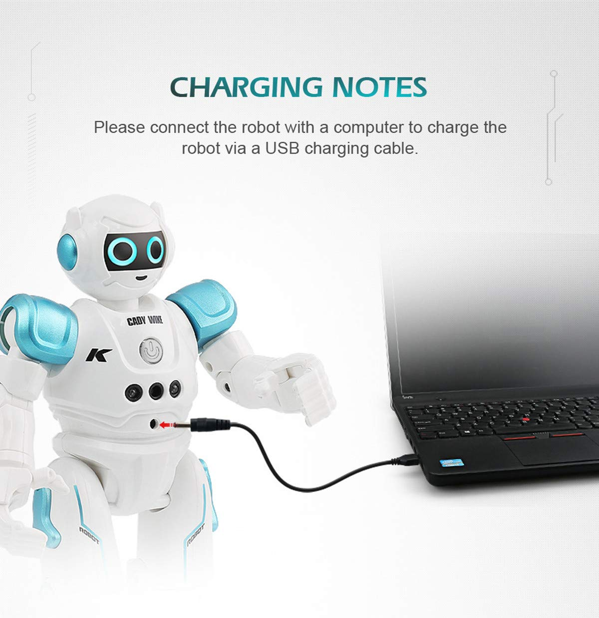 WEECOC Smart Robot Toys Gesture Control Remote Control Robot Kids Toys Birthday Can Singing Dancing Speaking Two Walking Models (Blue) by WEECOC (Image #8)