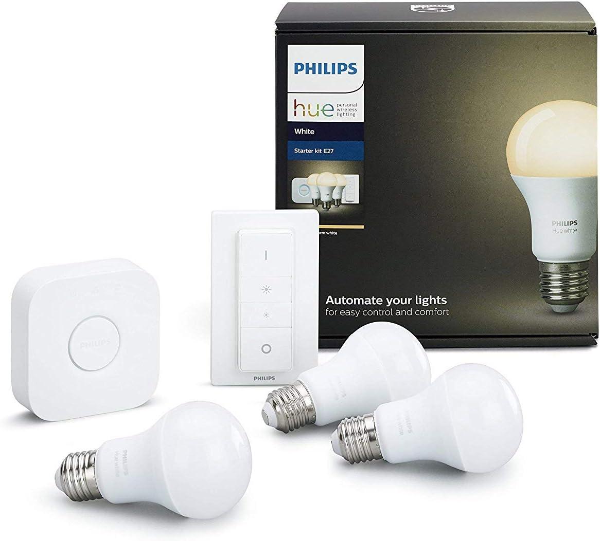 Philips Hue Kit 2 Bombillas Inteligentes LED E27 con Puente y ...