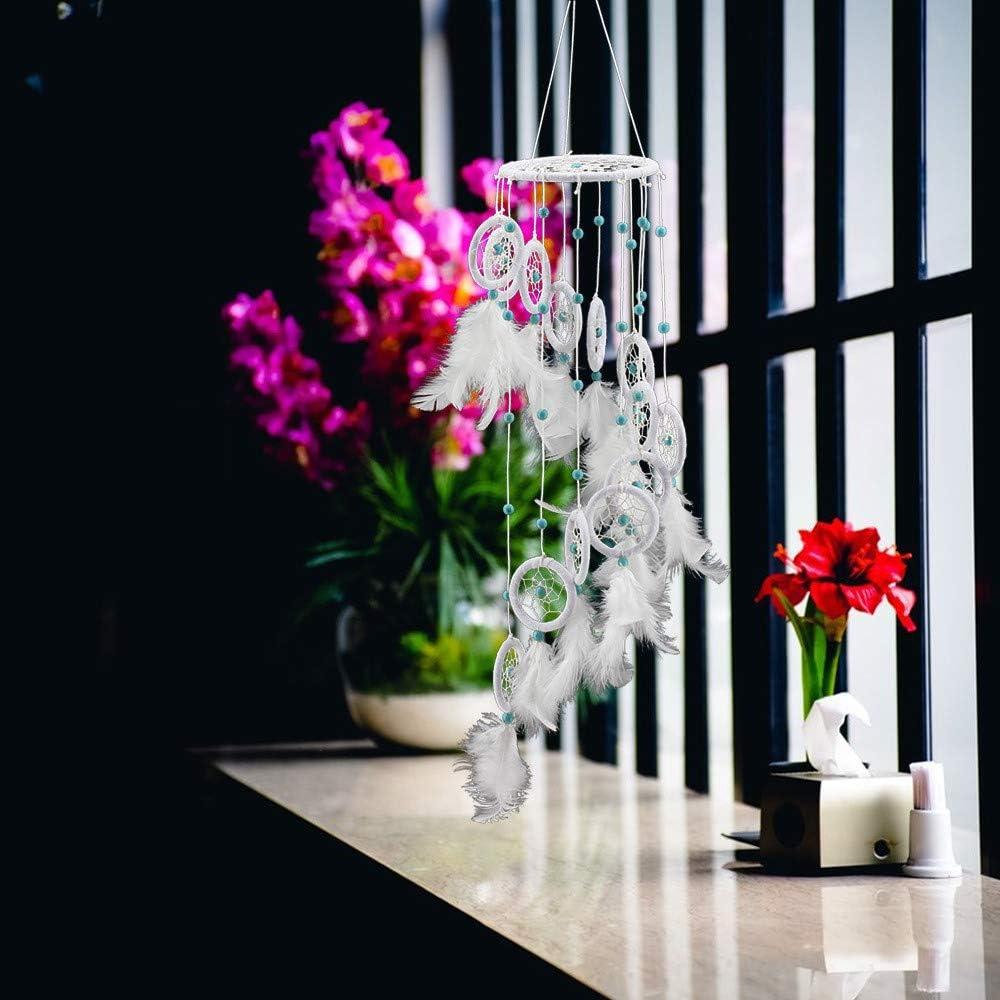 yuyuanDO Serie Blanc LED Capteur de r/êves Attrape R/êves Dream Catcher /À la Main Traditionnel pour D/écoration Chambre Fille Voiture Attrape R/êves Bebe Deco Fille N