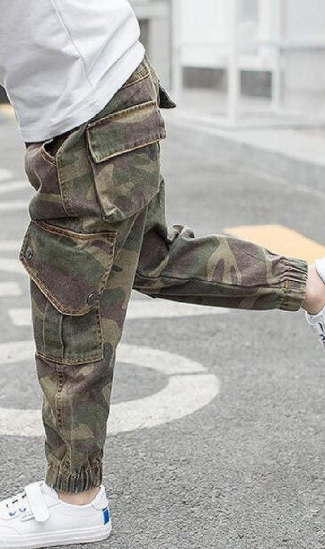 pipigo Boys Cotton Fit Jogging Camo Trousers Pants