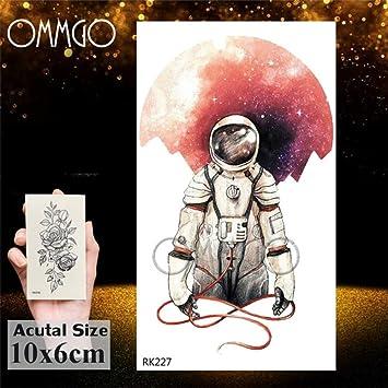 5Pcs-Acuarela Astronauta Universo Tatuajes Pegatina Para Niños ...