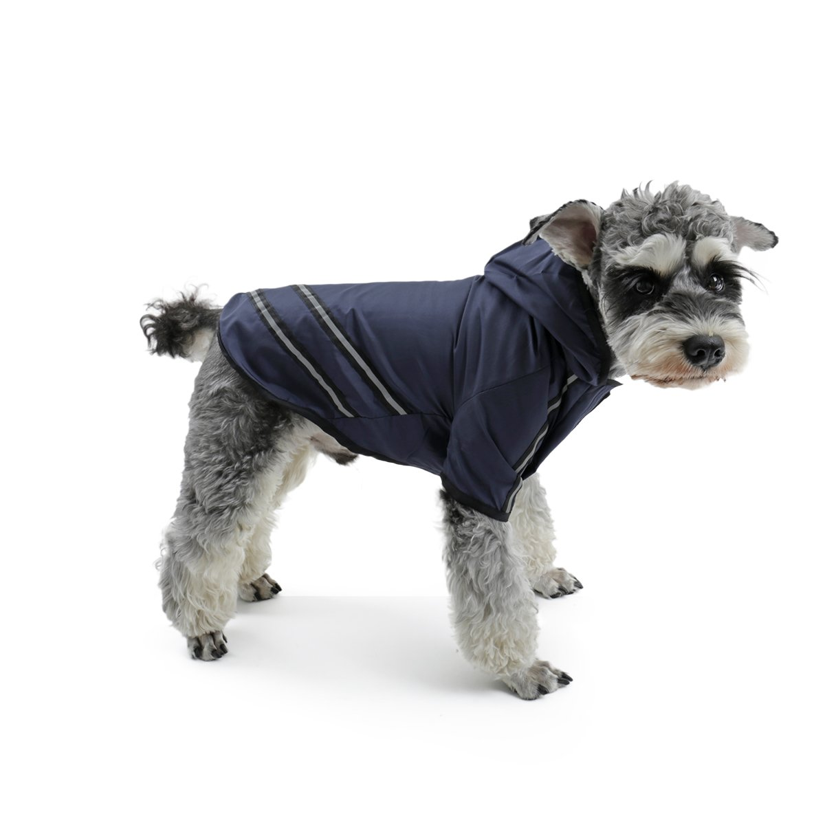 Speedy Pet Dog Hoodie Raincoat Jacket, Dog Rain Poncho Coat Outdoor Waterproof Apparel Clothes with Safe Reflective Strip