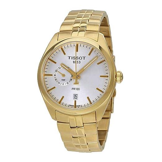 Tissot Reloj de hombre cuarzo suizo correa de acero dorado T1014523303100: Amazon.es: Relojes