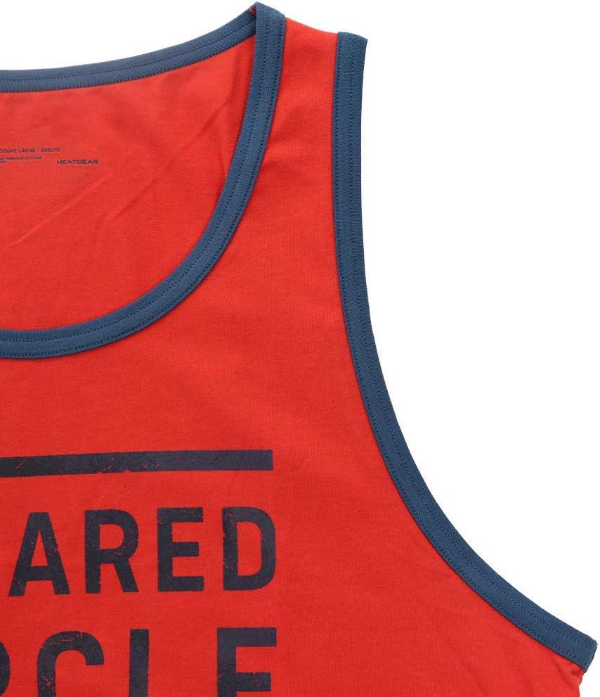 Medium Under Armour Mens UA Project Rock Squared Circle Champ Tank Top Shirt