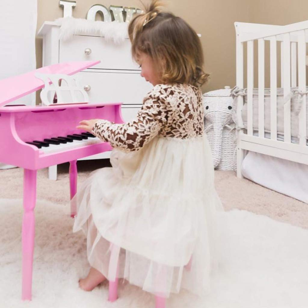 Baby Girls Floral Lace Sundress Little Princess Tutu Dresses 1-5T Little Kid Toddler Baby Girl Skirt