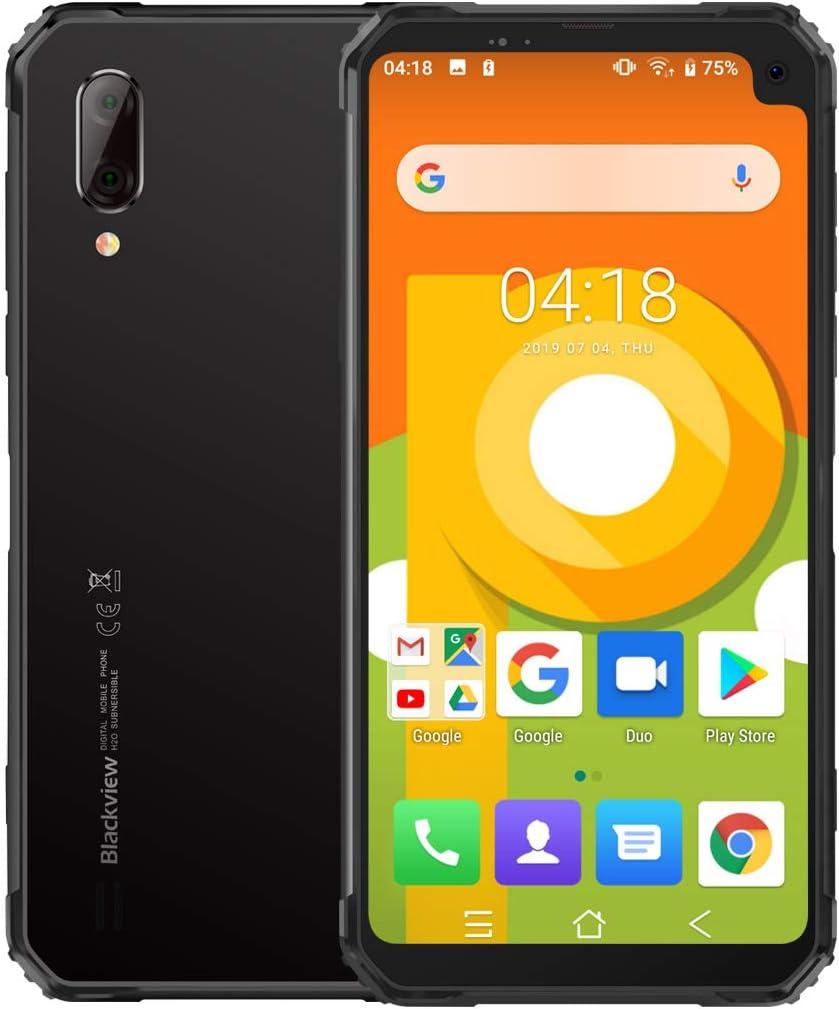 Blackview BV6100 (2019) Móvil Libre Resistente, Pantalla Grande de 6.88 Pulgadas (Dual Gorilla) Smartphone 3GB + 16GB, Android 9.0, IP68 / IP69K Impermeable/Antigolpes, Batería de 5580 mAh, NFC Gris: Amazon.es: Electrónica