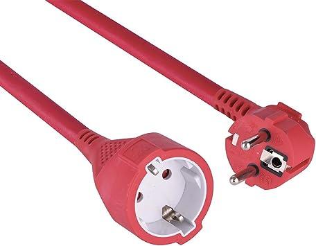 Electraline 101545 Prolongador de jardín de 40 m con Toma Schuko, Cable 3G1,5 mm², IP20, Color Rojo, Roja: Amazon.es: Bricolaje y herramientas