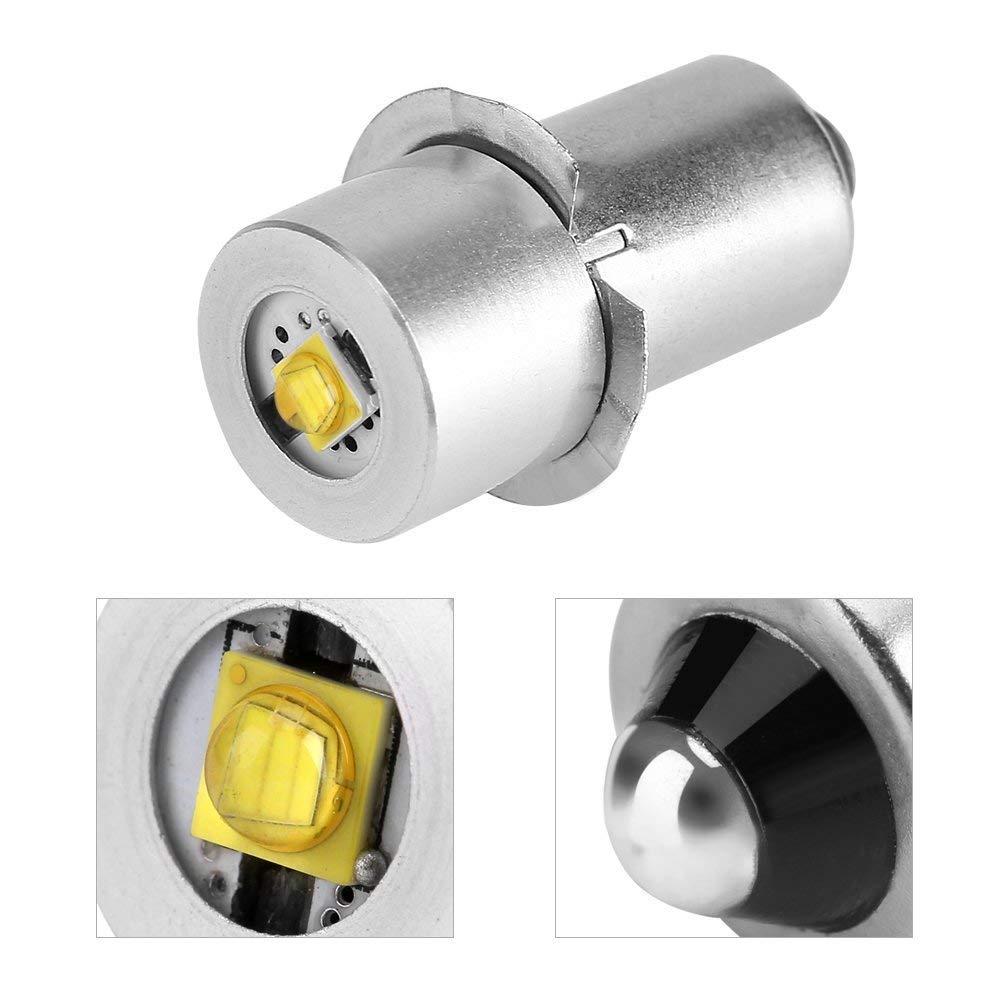 Ampoule de lampe de poche LED Puissance 3W 4-12V pi/èce de rechange LED Kit de conversion Ampoules LED haute luminosit/é de travail durgence lampe de poche ampoules de rechange 2 pi/èces