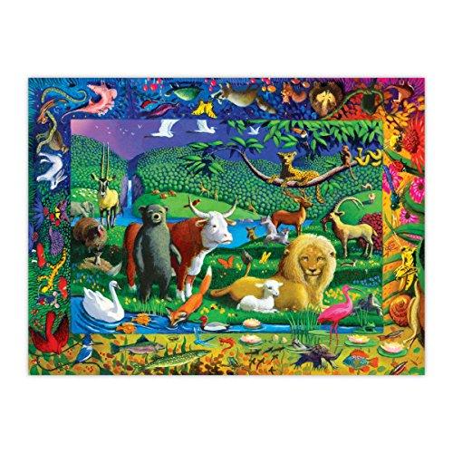 eeBoo Peaceable Animal Kingdom Puzzle, 500 Pieces