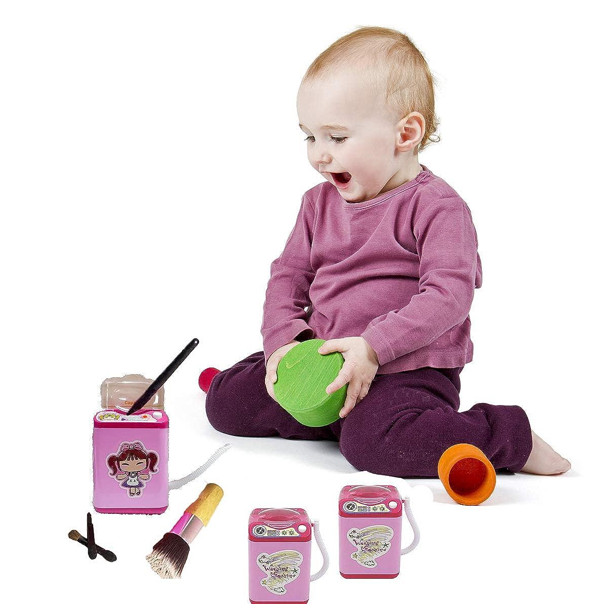 Markest Kids Toy Washing Machine Mini Automatic Powder Puff Washer ...