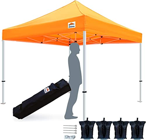Tistent 10'x10' Ez Pop Up Canopy Tent Commercial Instant Shelter