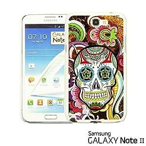 OnlineBestDigital - Skull Pattern Hardback Case for Samsung Galaxy Note 2 - Floral Skull