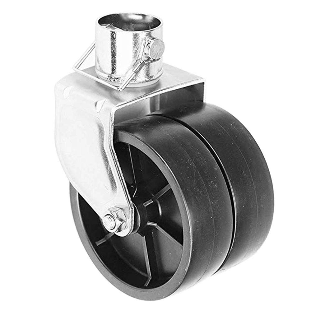 NBJINGYI 6'' 1200lbs Dual Trailer Swirl Jack Caster Wheel with Pin fits Any Jack Better Soft Ground Roll by NBJINGYI