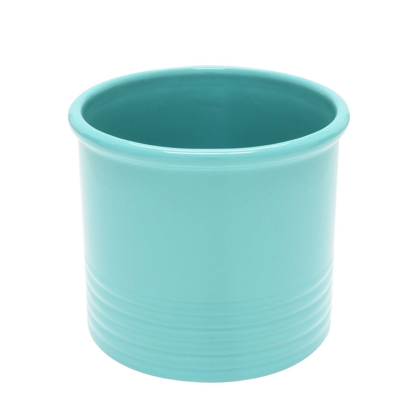 Large Utensil Crock - Aqua