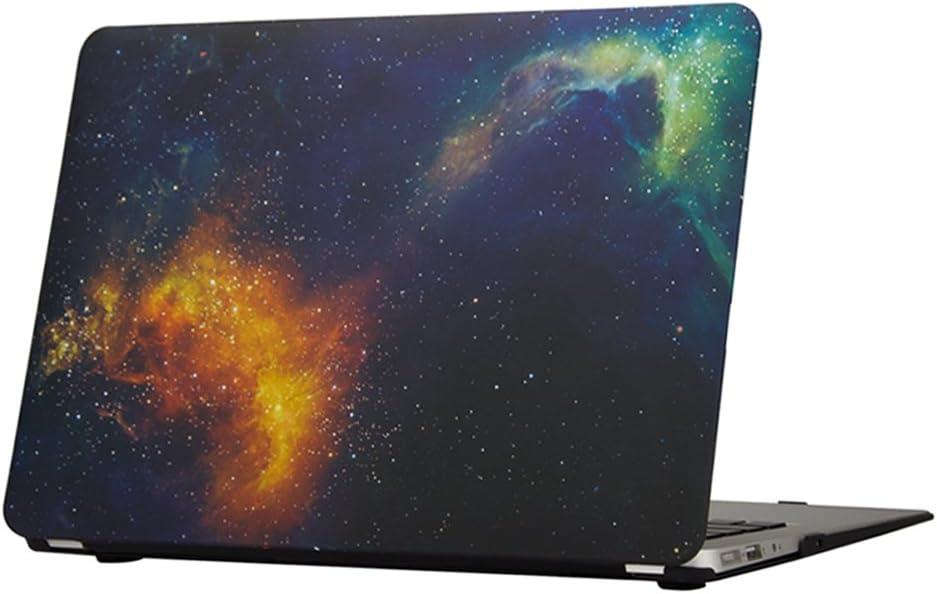 MacBook Pro Retina 13 Inch Case, Funut Hard Plastic Mac Pro Case Cover Matte Rubberized Protective Case for A1425 A1502 MacBook Pro 13 Retina 2012-2015 Ver, Flame Space