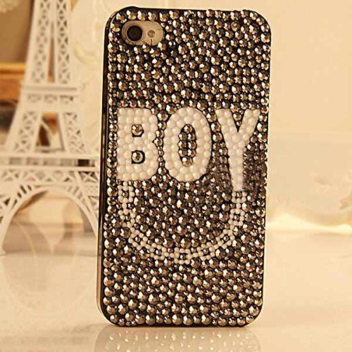 BOY Motif bricolage Drill CollŽ Phone Case Stuff Sacs pour iPhone 4 5