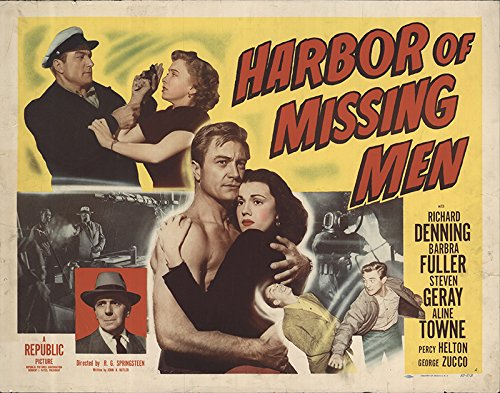 Harbor of Missing Men 1950 Authentic Original Movie Poster Never Folded Aline Towne Crime