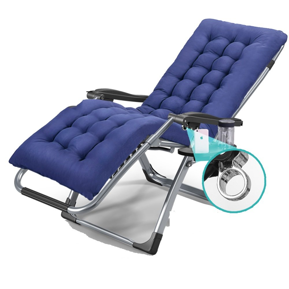 XXHDYR Folding Blätter  Herrenchen Klappstuhl Mittagspause Lounge Stuhl Bürostuhl Siesta Stuhl Klappstuhl (Farbe : grau)