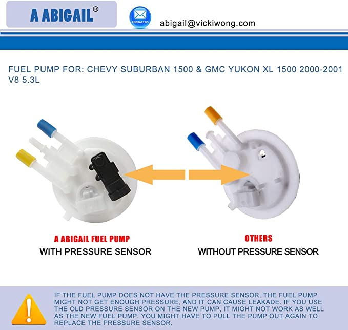 MOSTPLUS Fuel Pump Module Assembly Compatible with 2000 2001 Chevy Suburban GMC Yukon XL 1500 V8 Replace E3509M