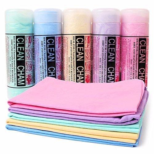 takestop Cham Towel Super Absorbent PVA 64x 43x 0.2M Reusable for Home Car Dog Cats Pets Random Colour MOON 1003693