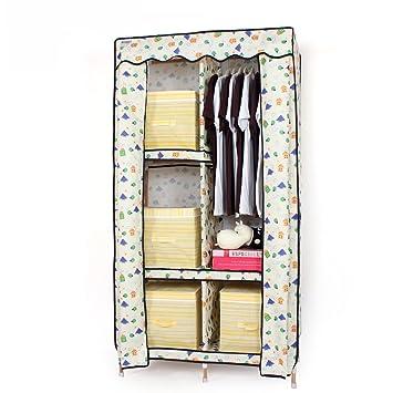 Amazon.de: MMM& Oxford Tuch Kleiderschrank Einfache Stoff Montage ...