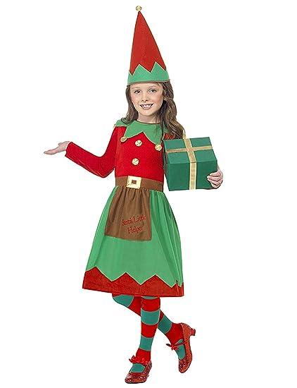 VENI MASEE Disfraz de Elfo para niñas, Disfraz de Papá Noel ...