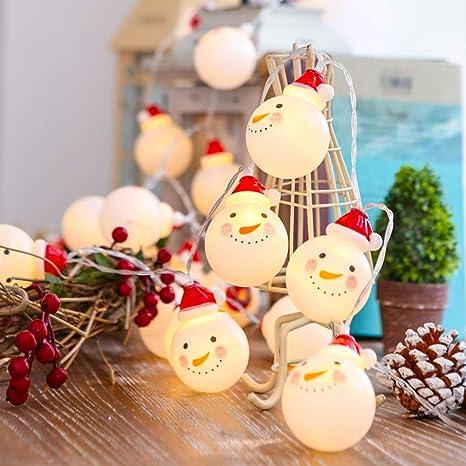 JUNMAONO 3M 20 LED Bulbos Muñeco Navideños Guirnalda Luces Navidad, Luces Arbol Aavidad, Guirnaldas