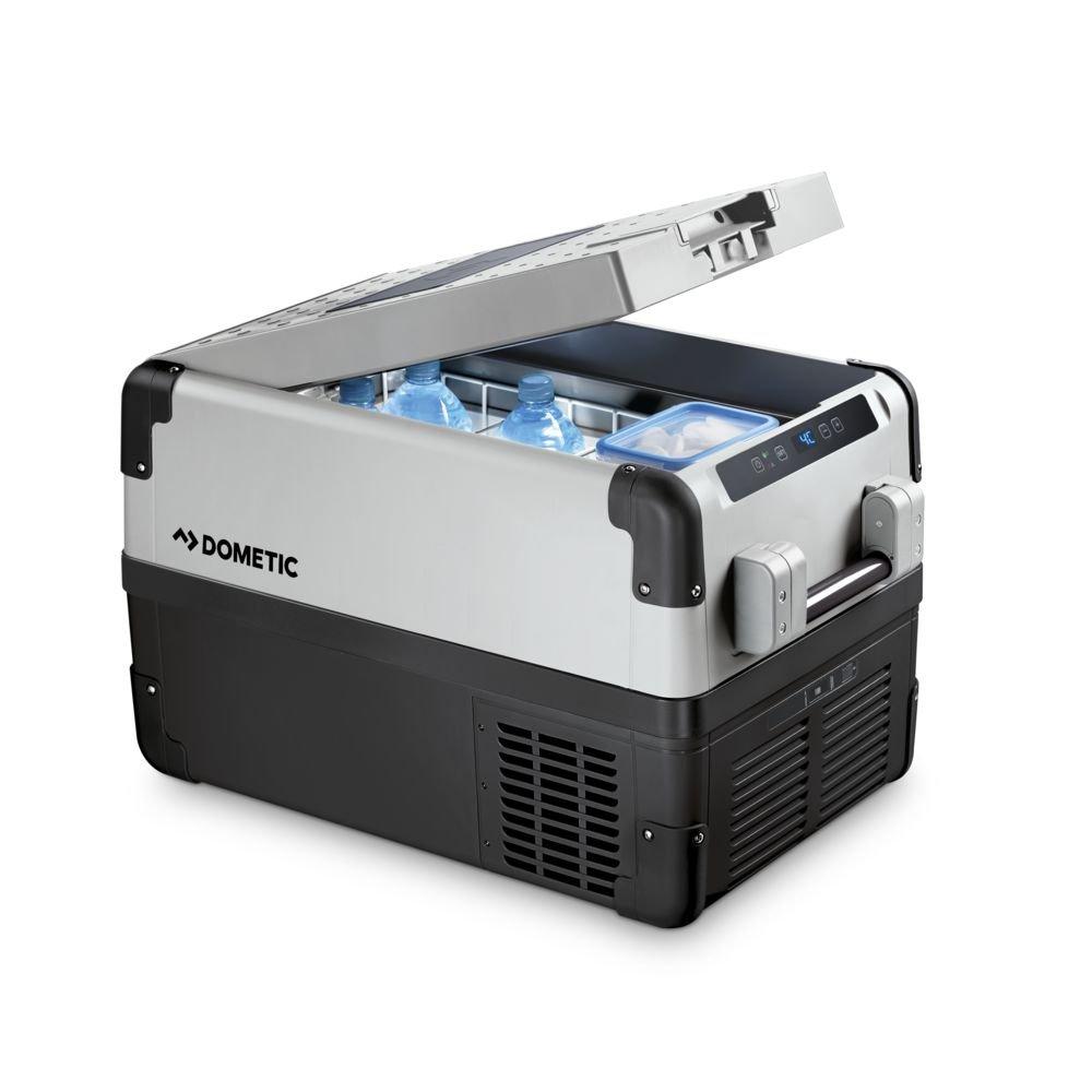 Dometic CoolFreeze CFX 65W - Nevera portá til de compresor, conexiones 12 / 24 / 230 V, 60 litros de capacidad, clasificació n energé tica A++, capacidad de enfriamiento de +10º C a -22º C clasificación energética A++ 9600000