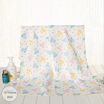 ZLR Toalla de baño triple del algodón del caramelo Toalla de baño suave del algodón del
